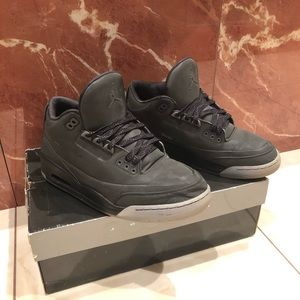 Mens Air-Jordan 3 5lab3 Black Reflective